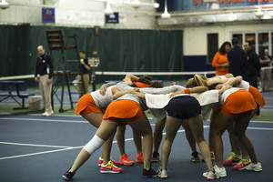 Syracuse's team success has mirrored Dina Hegab's individual success after dropping from the third singles spots.