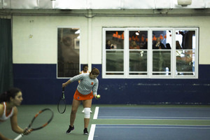Anna Shkudun won just her second singles match of the year to seal the victory for Syracuse.